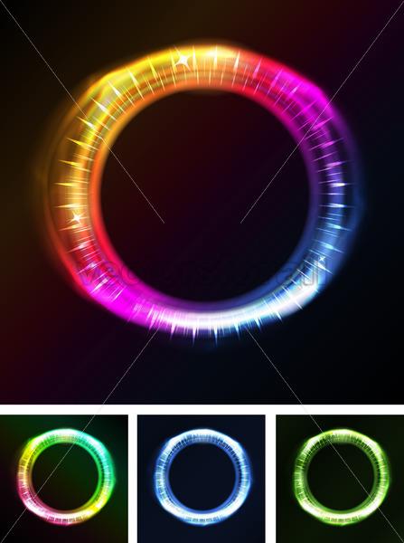 Abstract Eyes Iris Or Neon Light - Vectorsforall