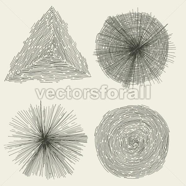 Abstract Hand Drawn Circles, Splashes And Shapes - Vectorsforall