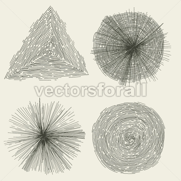 Abstract Hand Drawn Circles, Splashes And Shapes - Vectorsforall