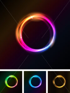 Abstract Shiny Light Circles - Vectorsforall