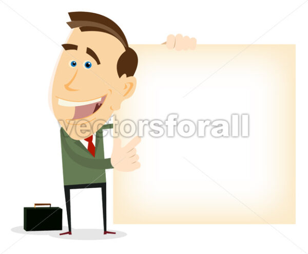 Advertisement From Happy Businessman - Vectorsforall
