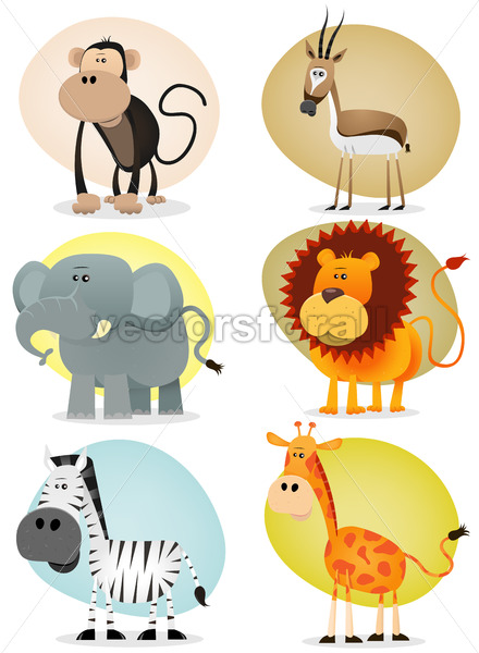 African Jungle Animals Collection - Vectorsforall