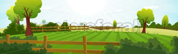 Agriculture And Farming Landscape Banner - Vectorsforall