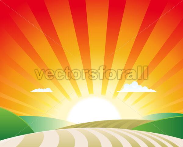 Agriculture Landscape - Vectorsforall
