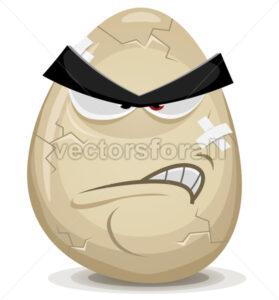 Angry Egg Character - Vectorsforall