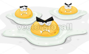 Angry Fried Chicken Eggs - Vectorsforall