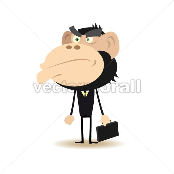 Angry Gorilla Businessman - Vectorsforall