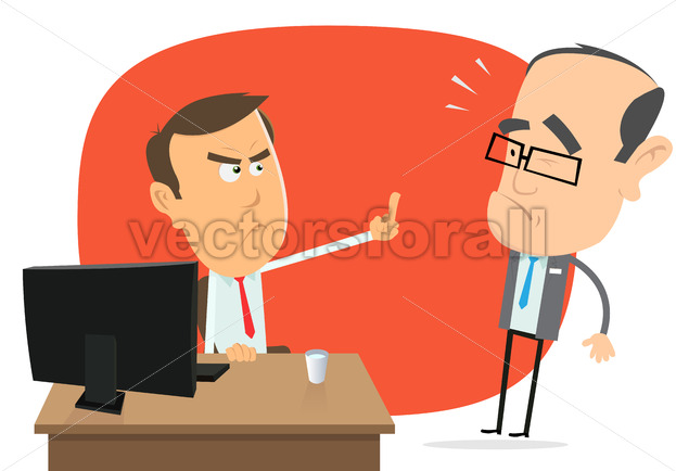 Angry White Collar Replies To The Boss - Benchart's Shop