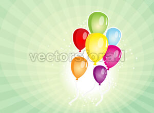 Balloons Party For Carnival And Holidays Background - Benchart's Shop