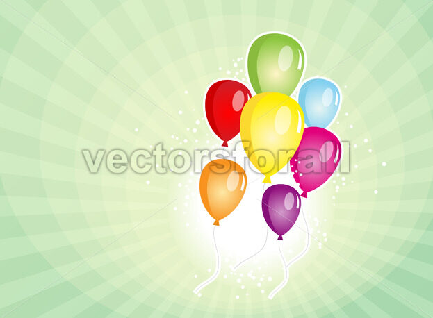 Balloons Party For Carnival And Holidays Background - Vectorsforall