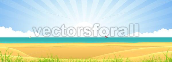 Beach Banner - Vectorsforall
