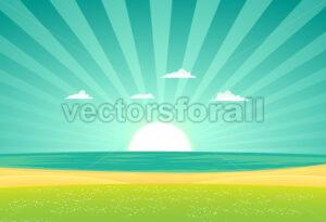 Beach Beyond The Fields - Benchart's Shop