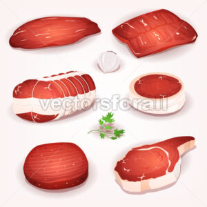 Beef Meat Set - Vectorsforall