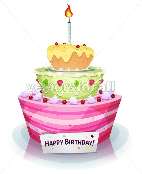 Birthday Cake - Vectorsforall