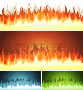 Blaze, Burning Fire And Flames Set - Vectorsforall
