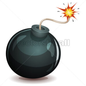 Bomb About To Blast - Vectorsforall
