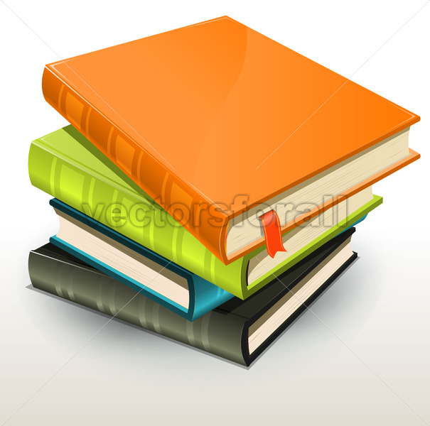 Books And Pics Albums Pile - Vectorsforall