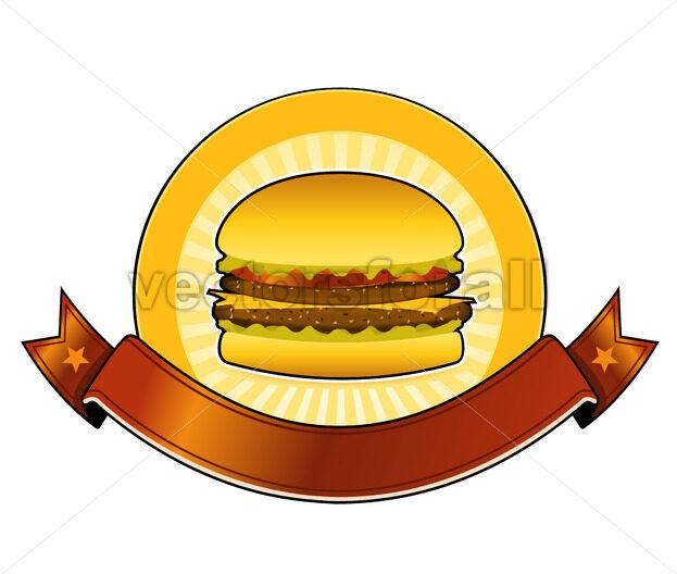 Burger Restaurant Banner - Vectorsforall