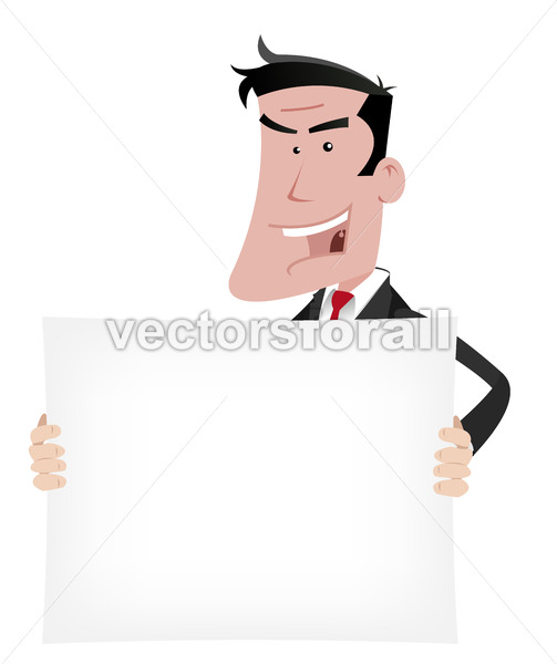Businessman Advertisement Sign - Vectorsforall