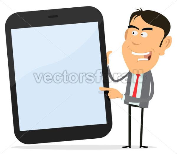 Businessman Showing Tablet PC - Vectorsforall