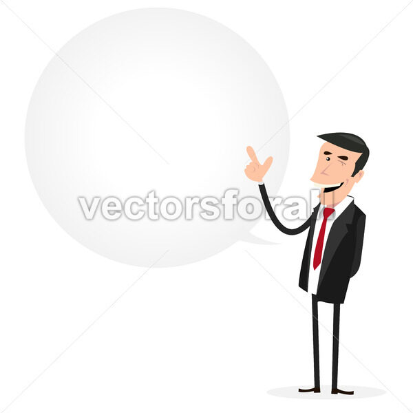 Businessman Speech Bubble - Vectorsforall