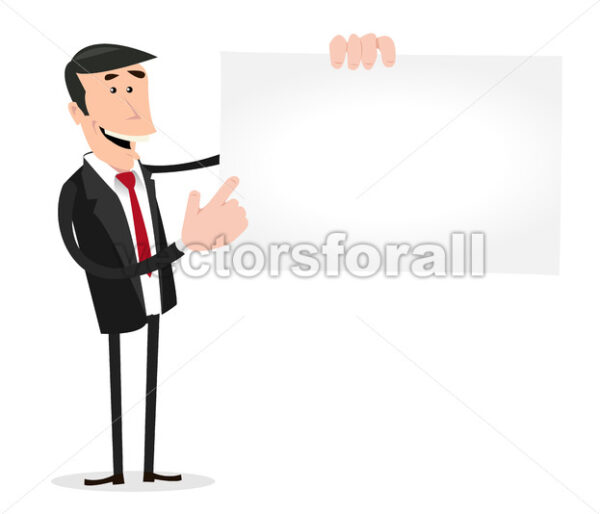 Businessman Vcard - Vectorsforall