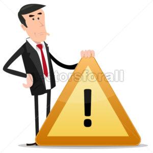 Businessman Warning Sign - Benchart's Shop