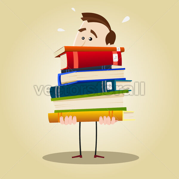 Busy Librarian - Vectorsforall