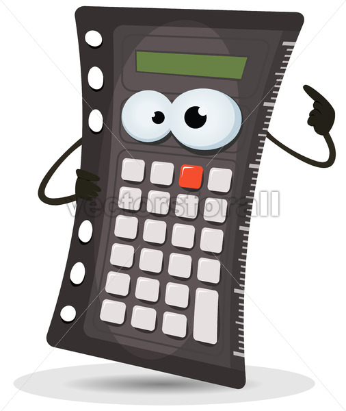 Calculator Character - Vectorsforall