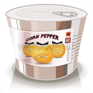 Can Of Gmo Corn Grains - Vectorsforall