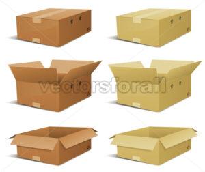 Cardboard Box Delivery Set - Benchart's Shop
