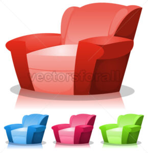 Cartoon Armchair Set - Vectorsforall