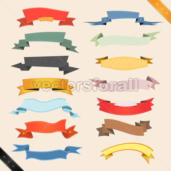 Cartoon Banners And Ribbons - Benchart's Shop