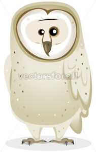 Cartoon Barn Owl Character - Vectorsforall