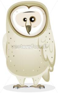 Cartoon Barn Owl Character - Vectorsforall