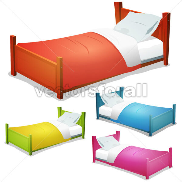 Cartoon Bed Set - Vectorsforall