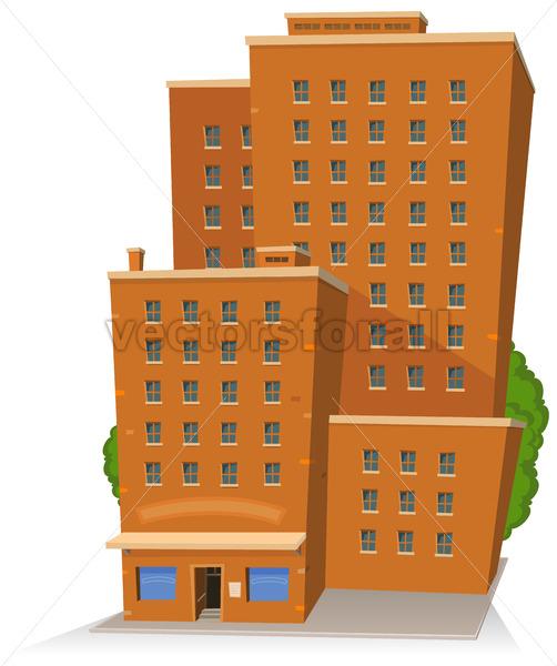 Cartoon Big Building - Benchart's Shop