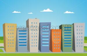 Cartoon Buildings - Benchart's Shop