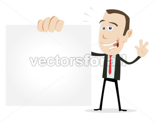 Cartoon Businessman VCard - Vectorsforall