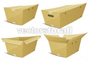 Cartoon Cardboard Box Set - Vectorsforall