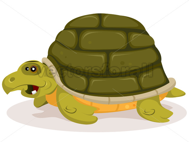 Cartoon Cute Turtle Character - Vectorsforall