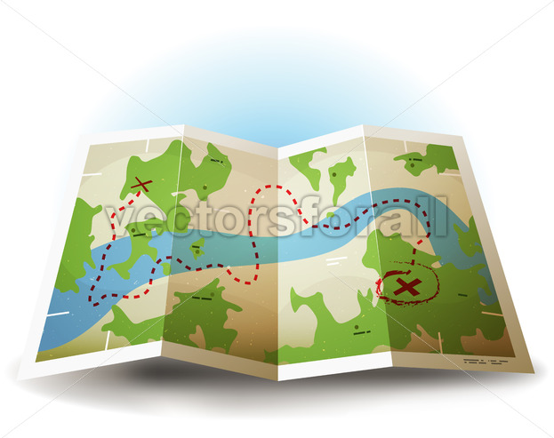 Cartoon Earth Map Icon - Vectorsforall