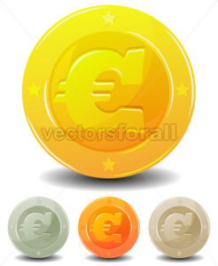 Cartoon Euro Coins Set - Benchart's Shop