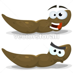 Cartoon Funny Dung Character - Vectorsforall