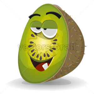 Cartoon Funny Kiwi Character - Vectorsforall