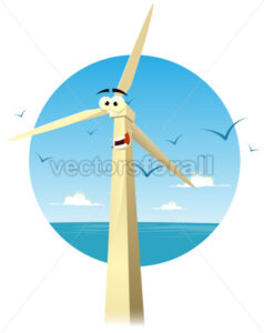 Cartoon Happy Eolian Character - Vectorsforall