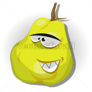 Cartoon Happy Quince Character - Vectorsforall