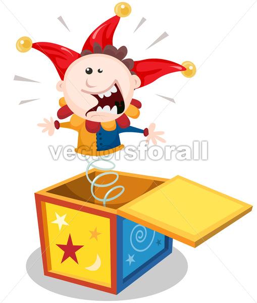 Cartoon Jack In The Box - Vectorsforall