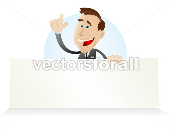 Cartoon Market Vendor - Vectorsforall
