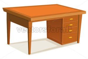 Cartoon Office Desk - Vectorsforall